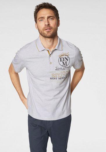 Man's World Poloshirt in melierter Optik