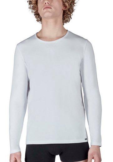 Skiny Langarmshirt mit modernem X-Stitching »Sloungewear«