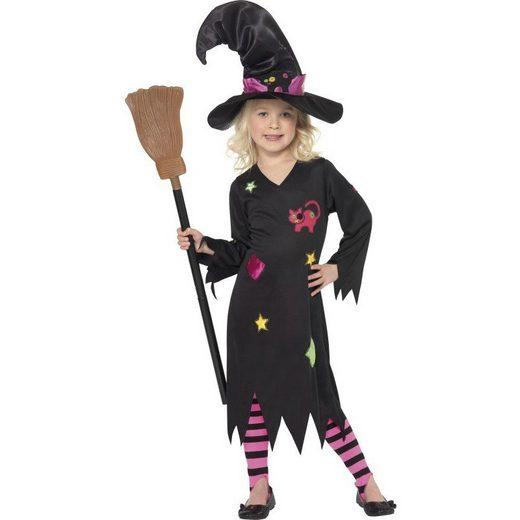 Kleine Flickenhexe Hexenkostüm für Kinder schwarz