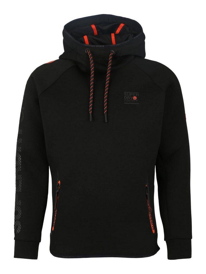 Superdry Sweatshirt »GYM TECH STRETCH OVERHEAD« | Sportbekleidung > Fleecepullover | Schwarz | Superdry