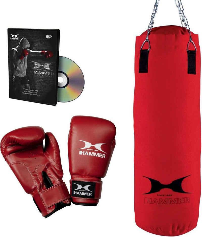 Hammer Boxsack »Fit« (Set, mit Trainings-DVD, mit Boxhandschuhen)