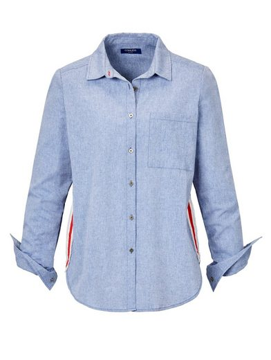 Conleys Blue Bluse mit appliziertem Fransenband