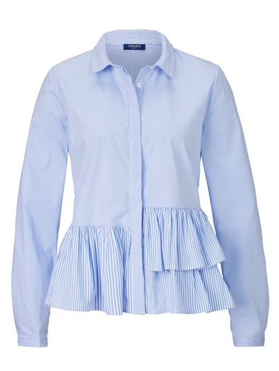 Conleys Blue Bluse mit Volantdetail