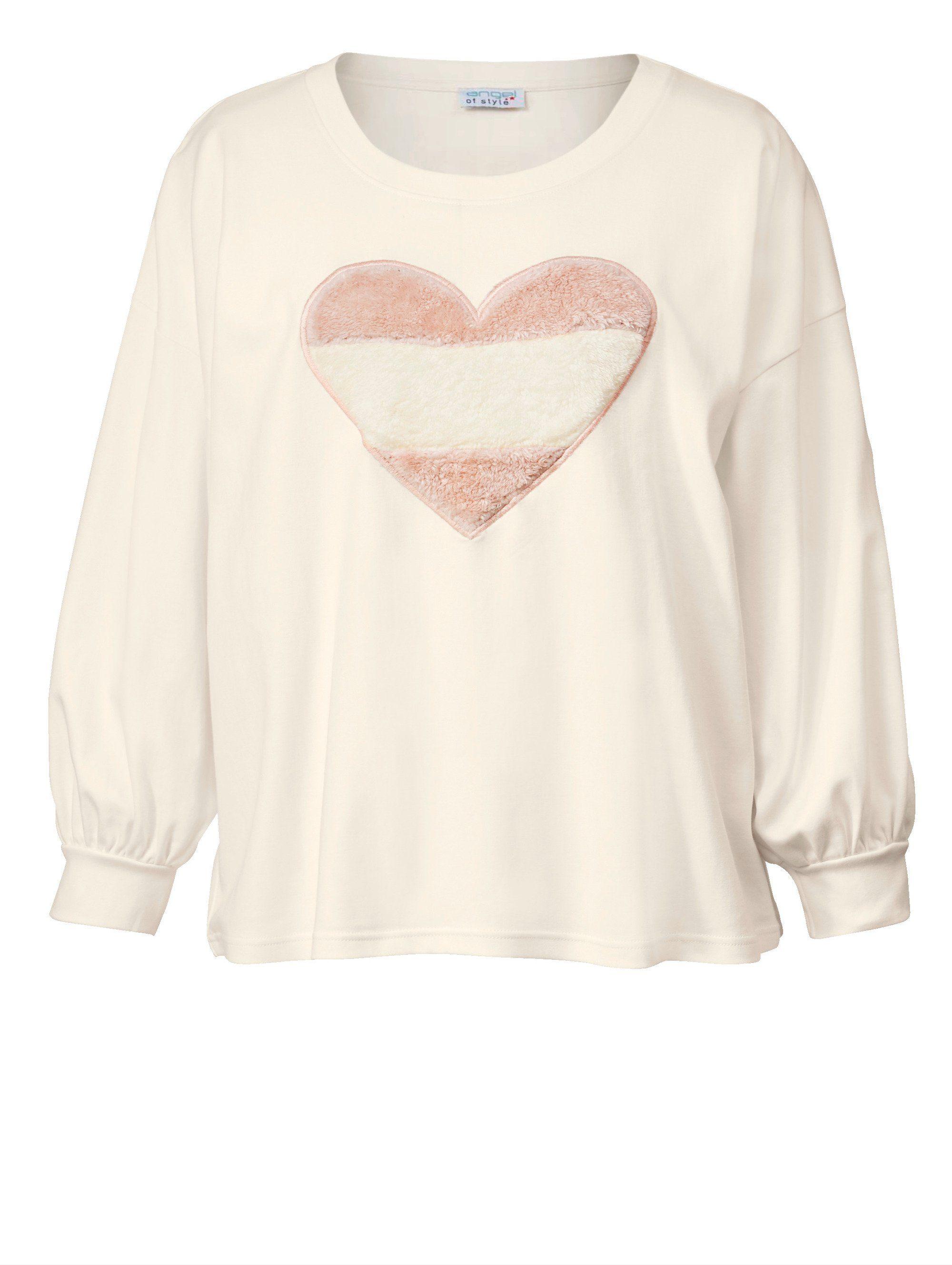 Angel of Style by Happy Size Sweatshirt in Oversize-Form mit Ballonärmeln