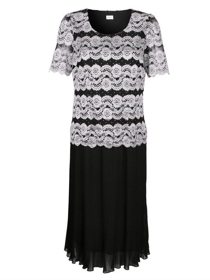 Festtagsmode - Mona Plisseekleid mit Spitzenoberteil ›  - Onlineshop OTTO