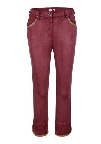 MONA 7/8 брюки в имитация замша
