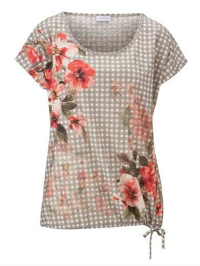 Mona Shirt mit platziertem Blumendruck