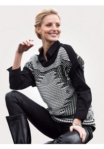 MONA Liemenė su grafinis Strukturstrick