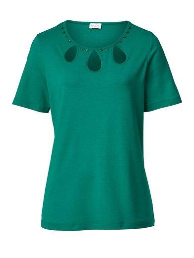 Mona Shirt mit attraktivem Ausschnitt
