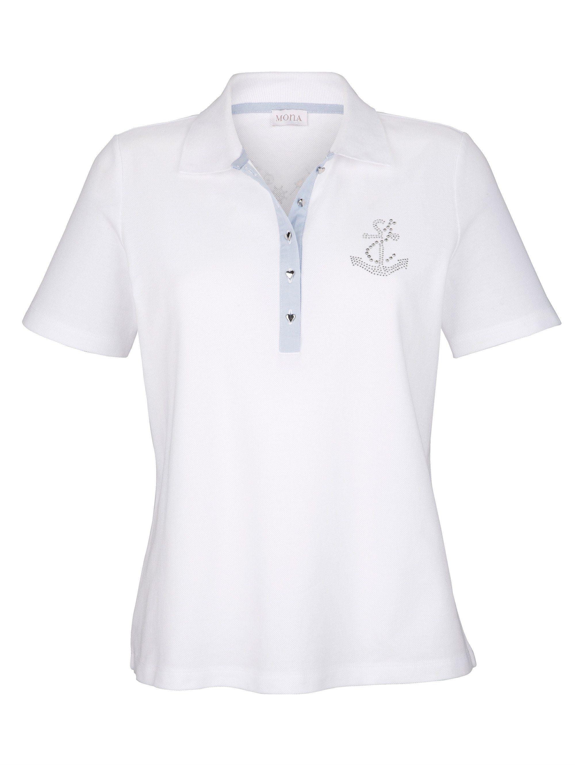 Mona Reiner Online Kaufen Poloshirt Aus Baumwolle TK1cFJl