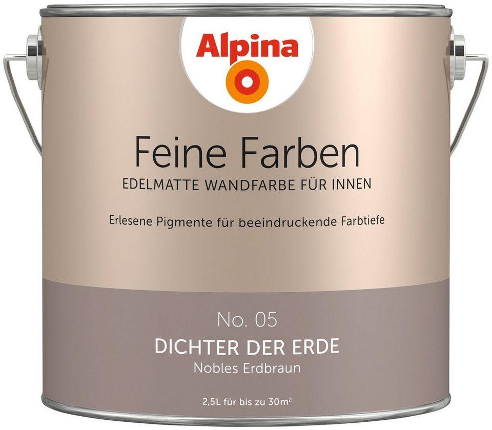 alpina farbe alpina feine farben dichter der erde 2 5 l online kaufen otto. Black Bedroom Furniture Sets. Home Design Ideas