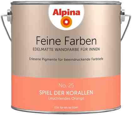 ALPINA Farbe »Alpina Feine Farben Spiel der Korallen«, 2,5 l