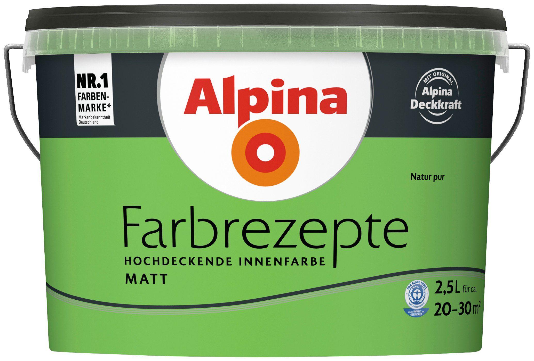 ALPINA Wand- und Deckenfarbe »Farbrezepte - Natur pur«, 2,5 l, matt