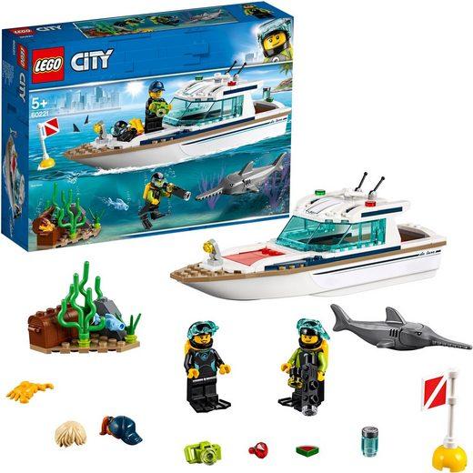 LEGO® Konstruktionsspielsteine »Tauchyacht (60221), LEGO® City«, (148 St)
