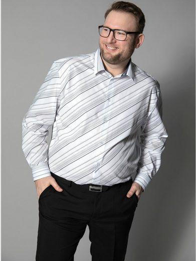 Men Plus by Happy Size Hemd gestreift