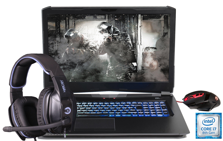 """HYRICAN 17,3"""", i7-8750H, 16GB, 500GB SSD + 1TB HDD, Geforce® GTX 1060 »Striker 1594«"""