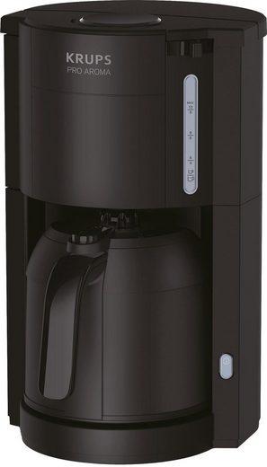 Krups Filterkaffeemaschine Pro Aroma, 1l Kaffeekanne, Papierfilter