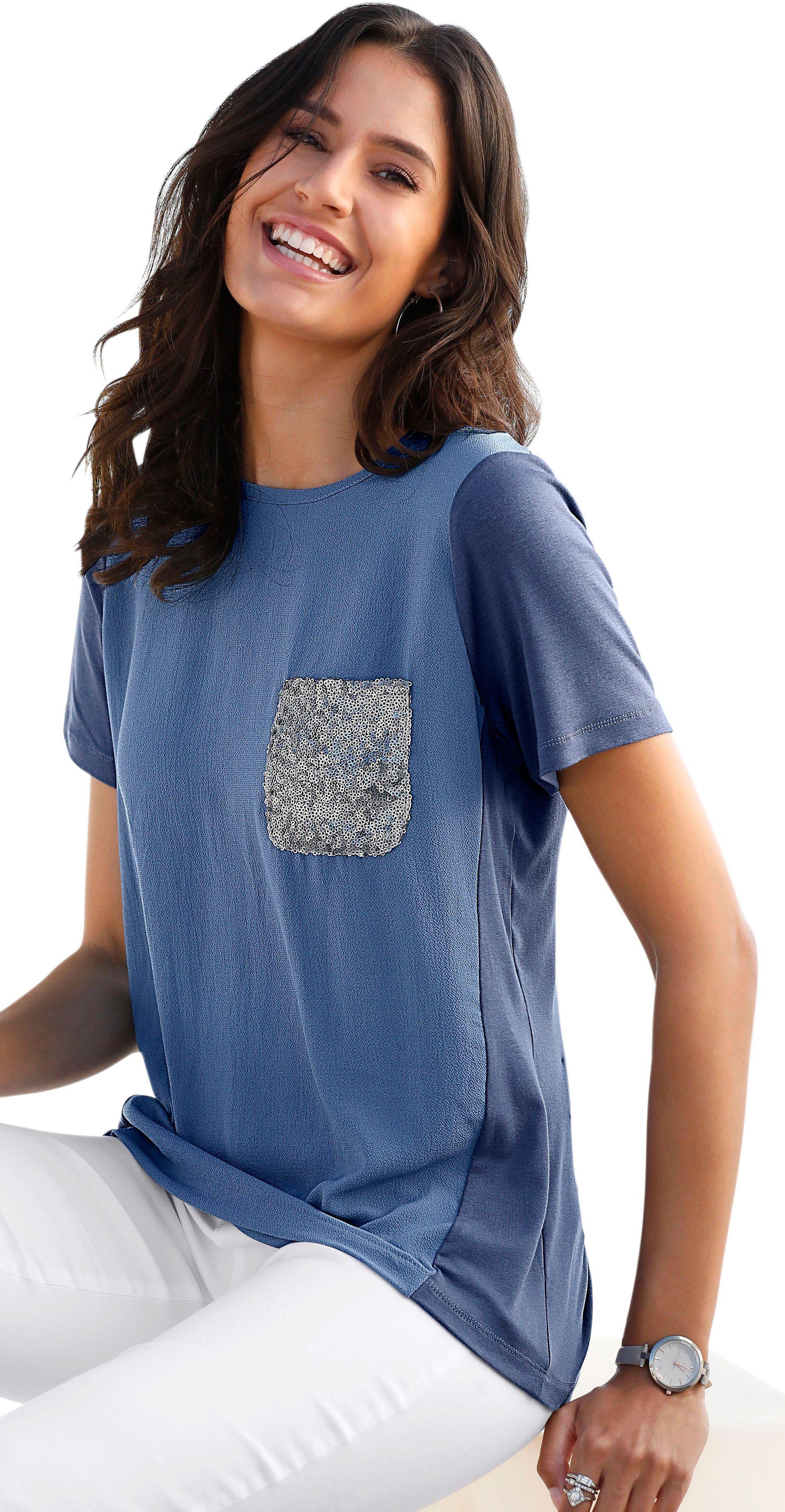 Classic Inspirationen Shirt im angesagten Materialmix