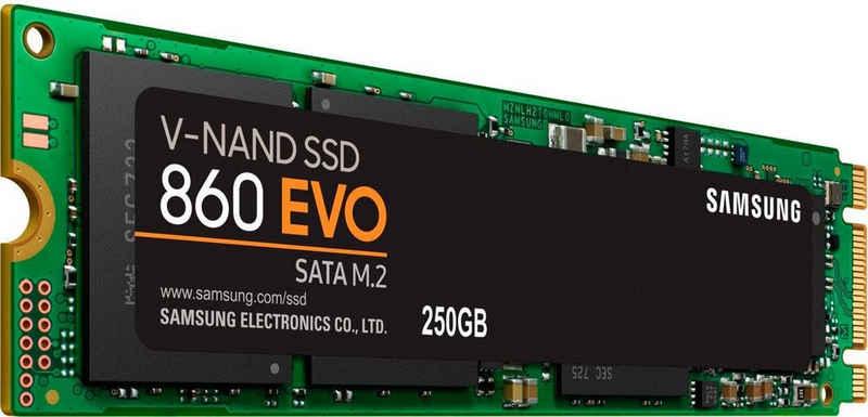 Samsung »860 EVO SATA M.2-PCIe« SSD (250 GB) 550 MB/S Lesegeschwindigkeit, 520 MB/S Schreibgeschwindigkeit)