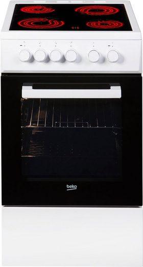 BEKO Elektro-Standherd FSS57000GW, mit Backauszug, Simple Steam Reinigungsfunktion