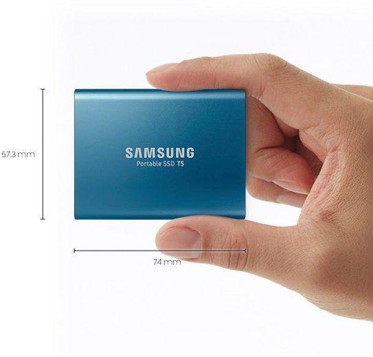 Samsung »Portable SSD T5« externe SSD (500 GB) 540 MB/S Lesegeschwindigkeit, 540 MB/S Schreibgeschwindigkeit, USB 3.1)