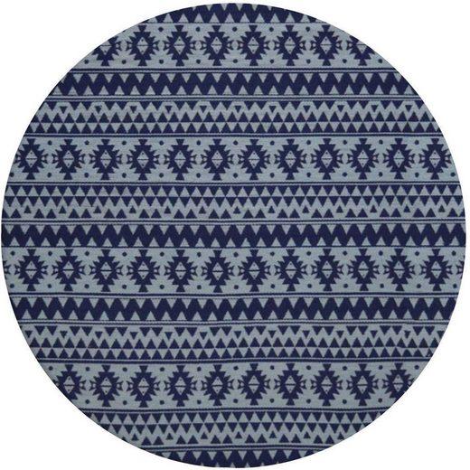 Teppich »Sunny 210«, Kayoom, rund, Höhe 5 mm, In- und Outdoor geeignet