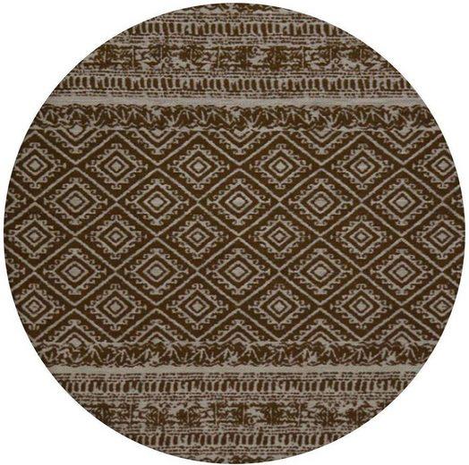 Teppich »Sunny 110«, Kayoom, rund, Höhe 5 mm, In- und Outdoor geeignet