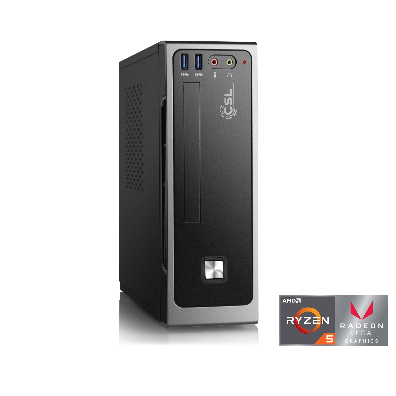 CSL Mini PC | Ryzen 5 2400G | Vega 11 Grafik | 16GB | SSD »CSL Mini PC Ryzen 5 2400G / Win 10«