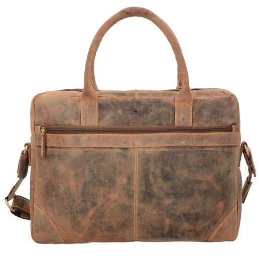 Greenburry Vintage Aktentasche Leder 41 cm Laptopfach