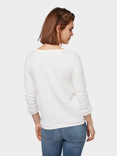 Großer Rabatt TOM TAILOR Denim Sweatshirt »Pullover mit Strukturmuster«