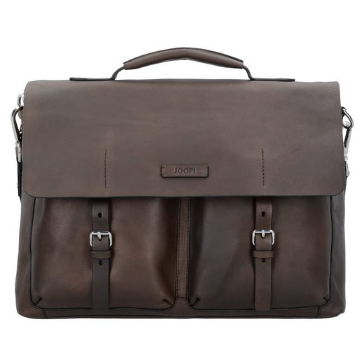 Joop! Missori Kreon Messenger Aktentasche Leder 40 cm Laptopfach