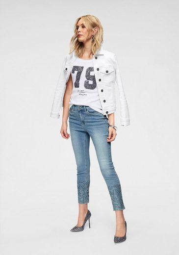 Unten Arizona High 7 Am Waist Bein« jeans »straßsteinchen 8 xSIS0qgwr
