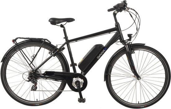 SAXXX E-Bike »Touring«, 7 Gang Shimano Tourney Schaltwerk, Kettenschaltung, Heckmotor 250 W