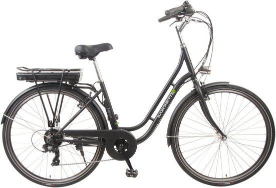 SAXONETTE E-Bike »Fashion«, 7 Gang Shimano Tourney Schaltwerk, Kettenschaltung, Heckmotor 250 W