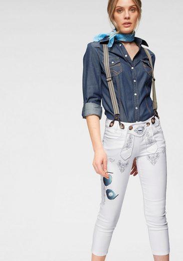 Arizona Trachtenjeans »Bavaria« 7/8 Jeans mit abnehmbaren Hosenträgern