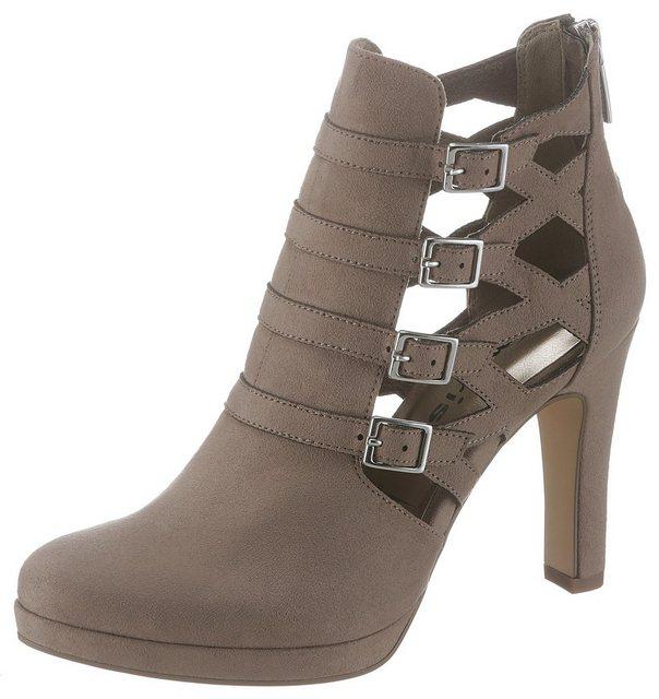 Tamaris High-Heel-Stiefelette im raffinierten Design | Schuhe > High Heels > High Heel Stiefeletten | tamaris