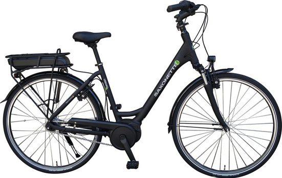 SAXONETTE E-Bike »Urbano Plus«, 7 Gang Shimano Nexus Schaltwerk, Nabenschaltung, Mittelmotor 250 W