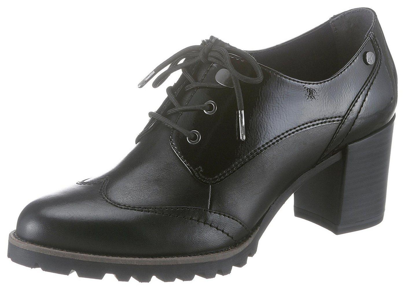 Tamaris Schnürpumps im eleganten Dandy-Style | Schuhe > Pumps > Schnürpumps | Schwarz | Tamaris