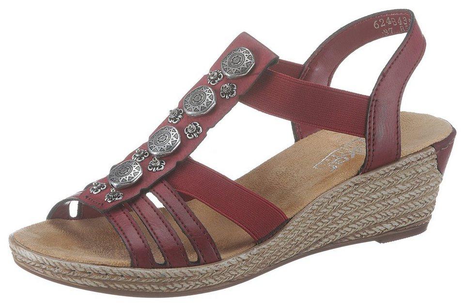 kauf verkauf große Vielfalt Modelle einzigartiges Design Rieker Sandalette mit Schmuckapplikation kaufen   OTTO