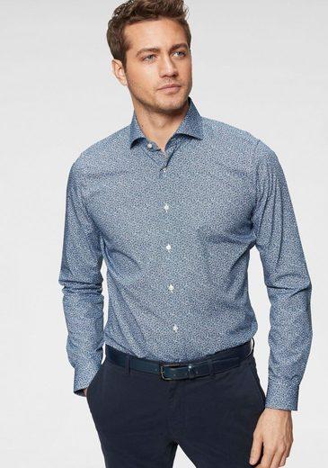 Strellson Businesshemd »Sereno« (2-tlg) Inklusive Einstecktuch, Slim Fit