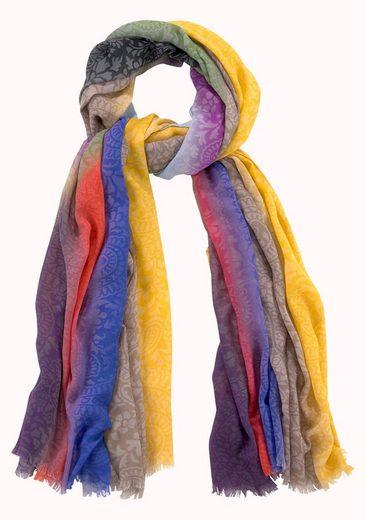 J.Jayz Modeschal (1-St) Multicolor, Paisley Muster, Fransen