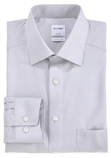 Schlussverkauf OLYMP Businesshemd »Luxor comfort fit« unifarben bügelfrei mit Brusttasche