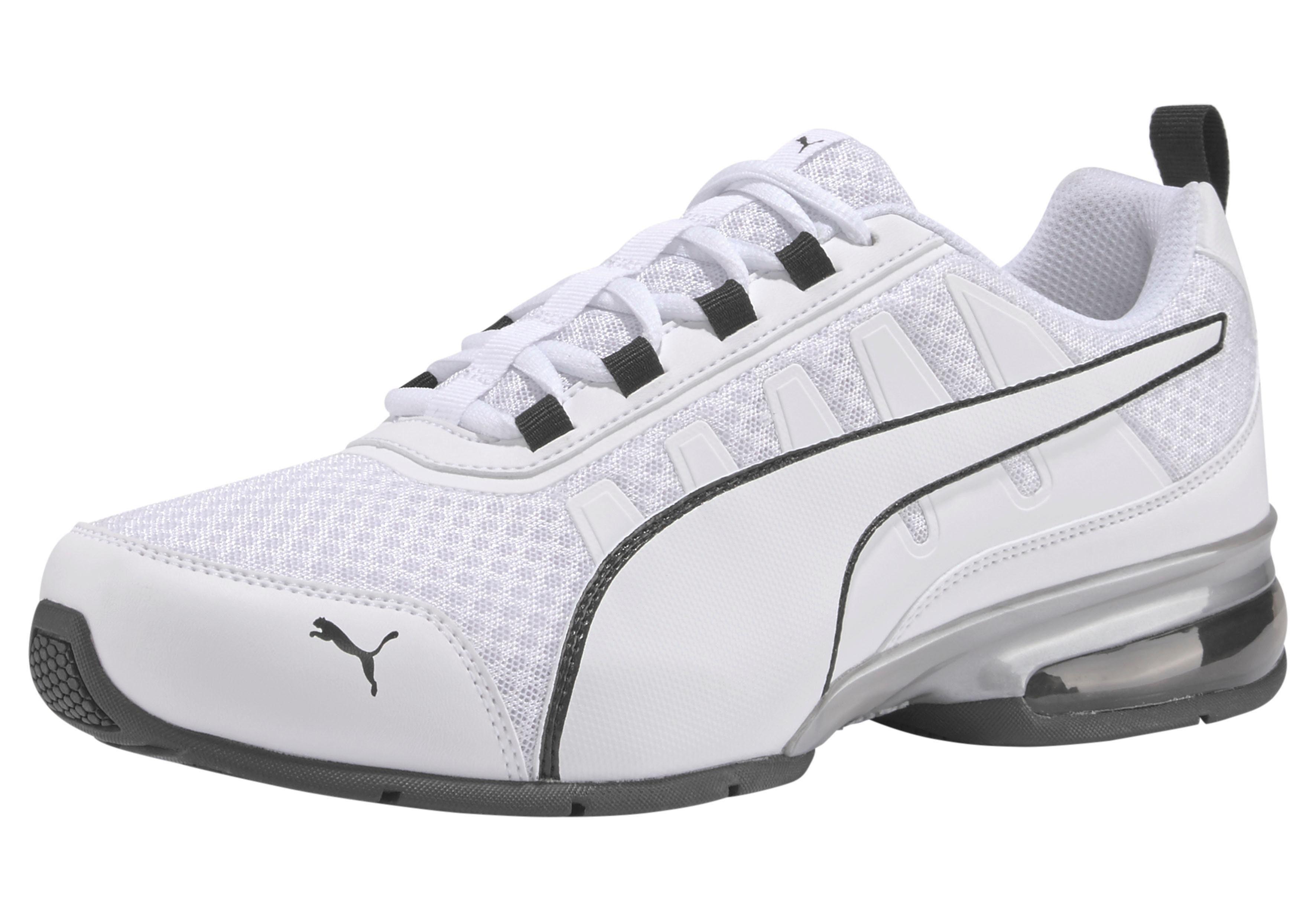 PUMA Leader VT Mesh Low Boot Sneaker Sportschuhe Schwarz Silber, Größenauswahl:42
