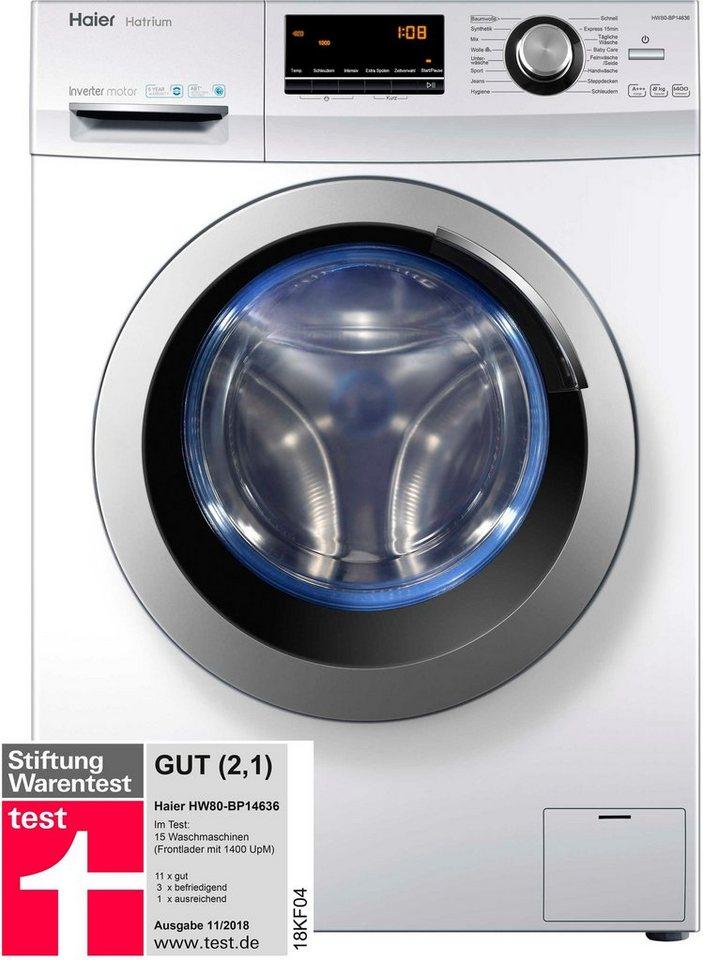 haier waschmaschine hw80 bp14636 8 kg 1400 u min otto. Black Bedroom Furniture Sets. Home Design Ideas