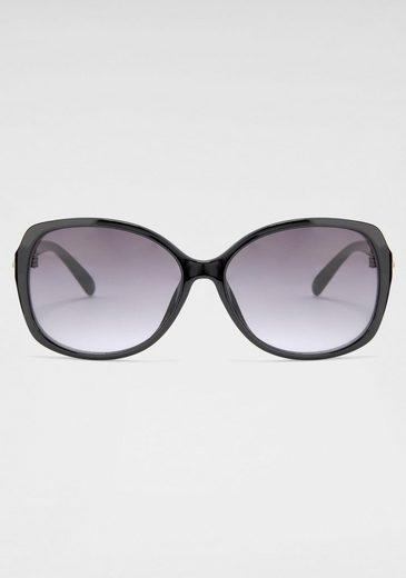 catwalk Eyewear Sonnenbrille Mit kleinen Glitzersteinen am Bügel