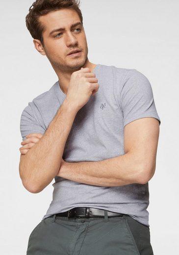 Marc O'Polo T-Shirt ideal zum Unterziehen, V-Ausschnitt