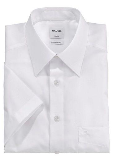 OLYMP Businesshemd »Luxor comfort-fit« Kurzarmhemd mit Brusttasche, bügelfrei