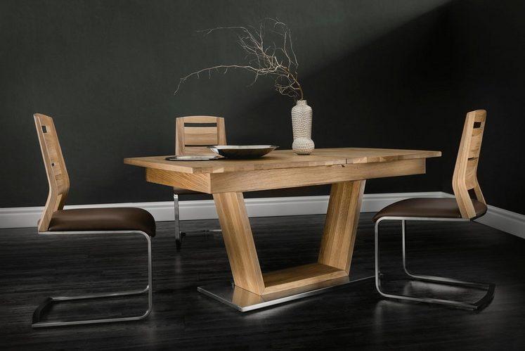 Places of Style Freischwinger Stuhl »Pisa« kombiniert mit massiver Wildeiche (2 Stück)