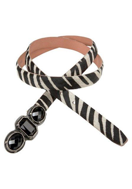 J.Jayz Koppelgürtel Zebra Look, Black & White | Accessoires > Gürtel > Koppelgürtel | J.Jayz