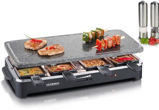Severin Raclette RG 2343, 8 Raclettepfännchen, 1500 W